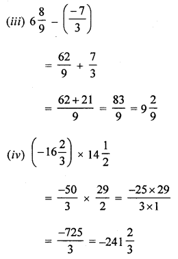ML Aggarwal Class 8 Solutions for ICSE Maths Chapter 1 Rational Numbers Check Your Progress Q1.3