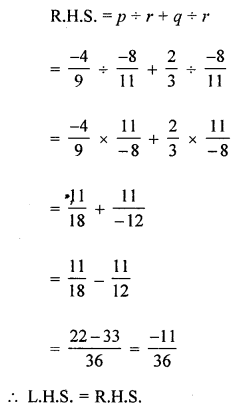 ML Aggarwal Class 8 Solutions for ICSE Maths Chapter 1 Rational Numbers Check Your Progress Q11.5