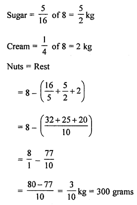 ML Aggarwal Class 8 Solutions for ICSE Maths Chapter 1 Rational Numbers Check Your Progress Q12.1