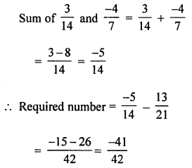 ML Aggarwal Class 8 Solutions for ICSE Maths Chapter 1 Rational Numbers Check Your Progress Q3.1
