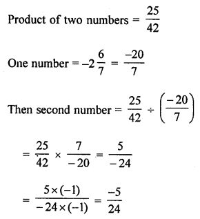 ML Aggarwal Class 8 Solutions for ICSE Maths Chapter 1 Rational Numbers Check Your Progress Q4.1