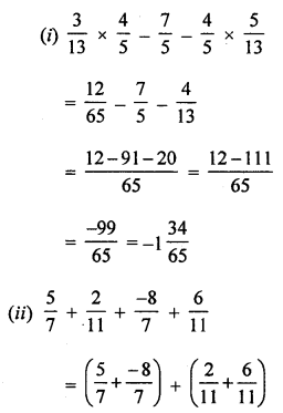 ML Aggarwal Class 8 Solutions for ICSE Maths Chapter 1 Rational Numbers Check Your Progress Q6.2