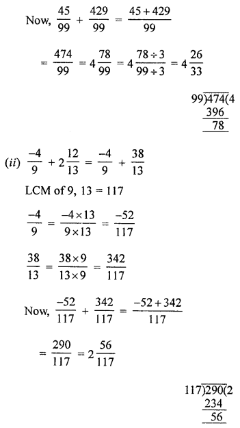 ML Aggarwal Class 8 Solutions for ICSE Maths Chapter 1 Rational Numbers Ex 1.1 Q2.3