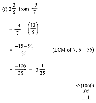 ML Aggarwal Class 8 Solutions for ICSE Maths Chapter 1 Rational Numbers Ex 1.2 Q1.2