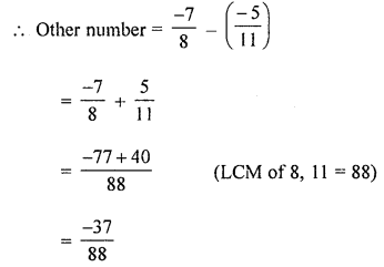 ML Aggarwal Class 8 Solutions for ICSE Maths Chapter 1 Rational Numbers Ex 1.2 Q3.1