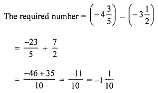 ML Aggarwal Class 8 Solutions for ICSE Maths Chapter 1 Rational Numbers Ex 1.2 Q4.1