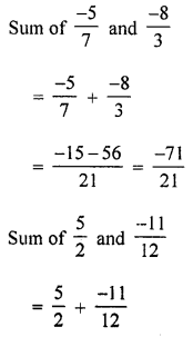 ML Aggarwal Class 8 Solutions for ICSE Maths Chapter 1 Rational Numbers Ex 1.2 Q5.1