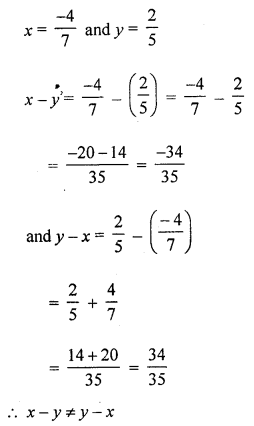 ML Aggarwal Class 8 Solutions for ICSE Maths Chapter 1 Rational Numbers Ex 1.2 Q6.1