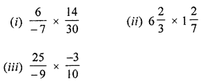 ML Aggarwal Class 8 Solutions for ICSE Maths Chapter 1 Rational Numbers Ex 1.3 Q1.1