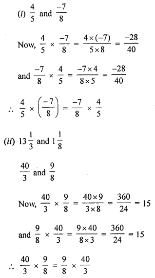 ML Aggarwal Class 8 Solutions for ICSE Maths Chapter 1 Rational Numbers Ex 1.3 Q2.1