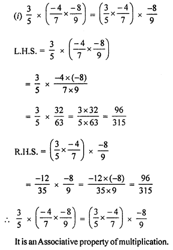 ML Aggarwal Class 8 Solutions for ICSE Maths Chapter 1 Rational Numbers Ex 1.3 Q3.2