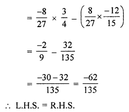 ML Aggarwal Class 8 Solutions for ICSE Maths Chapter 1 Rational Numbers Ex 1.3 Q6.3