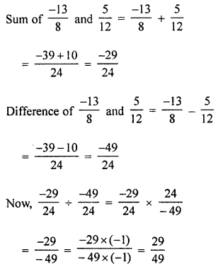 ML Aggarwal Class 8 Solutions for ICSE Maths Chapter 1 Rational Numbers Ex 1.4 Q6.1