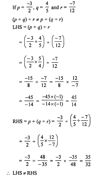 ML Aggarwal Class 8 Solutions for ICSE Maths Chapter 1 Rational Numbers Ex 1.4 Q8.1