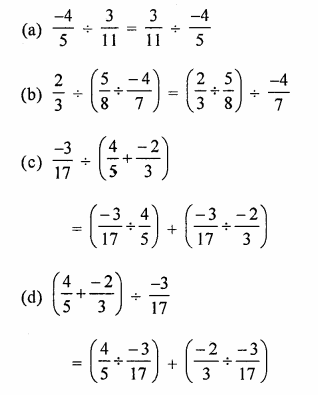 ML Aggarwal Class 8 Solutions for ICSE Maths Chapter 1 Rational Numbers Objective Type Questions Q18.1