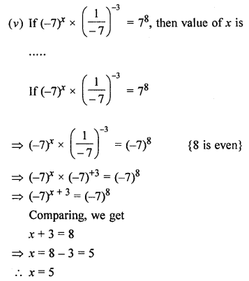 ML Aggarwal Class 8 Solutions for ICSE Maths Chapter 2 Exponents and Powers Objective Type Questions Q1.1