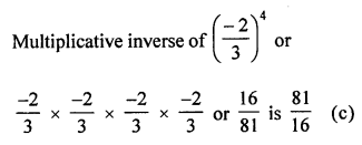 ML Aggarwal Class 8 Solutions for ICSE Maths Chapter 2 Exponents and Powers Objective Type Questions Q10.1