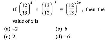 ML Aggarwal Class 8 Solutions for ICSE Maths Chapter 2 Exponents and Powers Objective Type Questions Q12.1