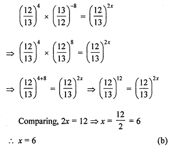ML Aggarwal Class 8 Solutions for ICSE Maths Chapter 2 Exponents and Powers Objective Type Questions Q12.2