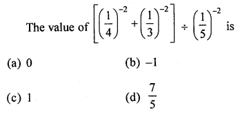 ML Aggarwal Class 8 Solutions for ICSE Maths Chapter 2 Exponents and Powers Objective Type Questions Q4.1