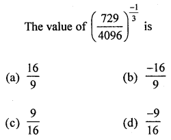 ML Aggarwal Class 8 Solutions for ICSE Maths Chapter 2 Exponents and Powers Objective Type Questions Q6.1
