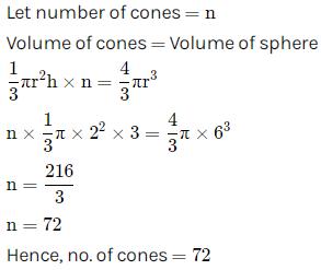 Selina Concise Mathematics Class 10 ICSE Solutions Cylinder, Cone and Sphere image - 158