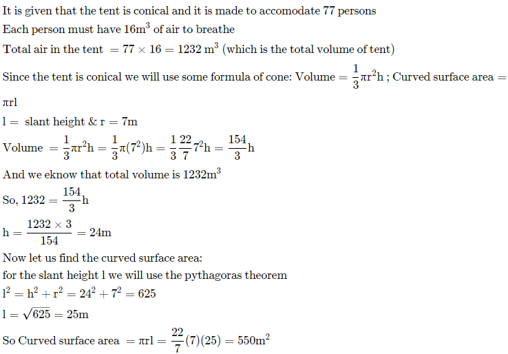 Selina Concise Mathematics Class 10 ICSE Solutions Cylinder, Cone and Sphere image - 159