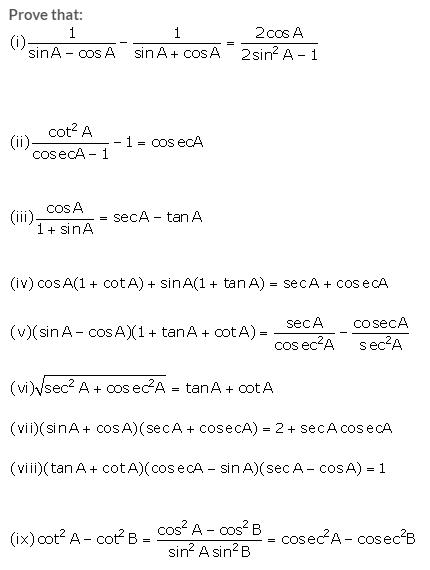 Selina Concise Mathematics Class 10 ICSE Solutions Trigonometrical Identities image - 181