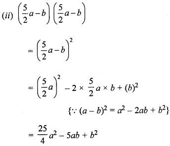 ML Aggarwal Class 8 Solutions for ICSE Maths Chapter 10 Algebraic Expressions and Identities Check Your Progress Q10.1