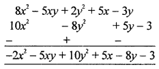 ML Aggarwal Class 8 Solutions for ICSE Maths Chapter 10 Algebraic Expressions and Identities Check Your Progress Q2.2