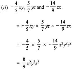 ML Aggarwal Class 8 Solutions for ICSE Maths Chapter 10 Algebraic Expressions and Identities Check Your Progress Q4.1