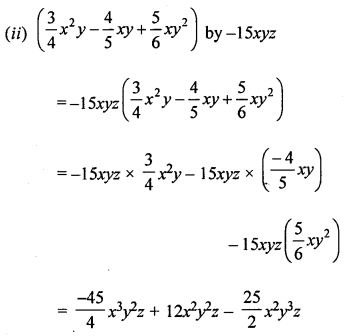 ML Aggarwal Class 8 Solutions for ICSE Maths Chapter 10 Algebraic Expressions and Identities Check Your Progress Q5.1