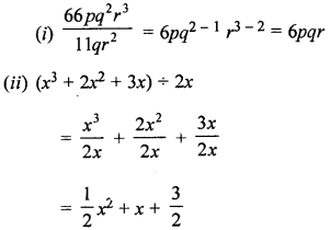 ML Aggarwal Class 8 Solutions for ICSE Maths Chapter 10 Algebraic Expressions and Identities Check Your Progress Q8.1