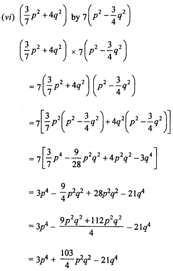 ML Aggarwal Class 8 Solutions for ICSE Maths Chapter 10 Algebraic Expressions and Identities Ex 10.3 Q1.1