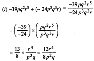 ML Aggarwal Class 8 Solutions for ICSE Maths Chapter 10 Algebraic Expressions and Identities Ex 10.4 Q1.1