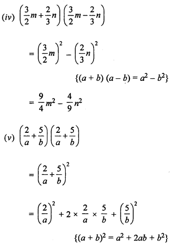 ML Aggarwal Class 8 Solutions for ICSE Maths Chapter 10 Algebraic Expressions and Identities Ex 10.5 Q1.1