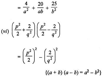 ML Aggarwal Class 8 Solutions for ICSE Maths Chapter 10 Algebraic Expressions and Identities Ex 10.5 Q1.2