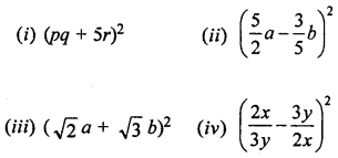 ML Aggarwal Class 8 Solutions for ICSE Maths Chapter 10 Algebraic Expressions and Identities Ex 10.5 Q3.1