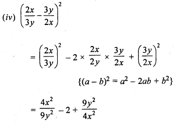 ML Aggarwal Class 8 Solutions for ICSE Maths Chapter 10 Algebraic Expressions and Identities Ex 10.5 Q3.3