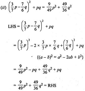 ML Aggarwal Class 8 Solutions for ICSE Maths Chapter 10 Algebraic Expressions and Identities Ex 10.5 Q8.1