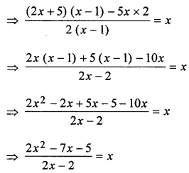 ML Aggarwal Class 8 Solutions for ICSE Maths Chapter 12 Linear Equations and Inequalities in one Variable Check Your Progress Q1.5