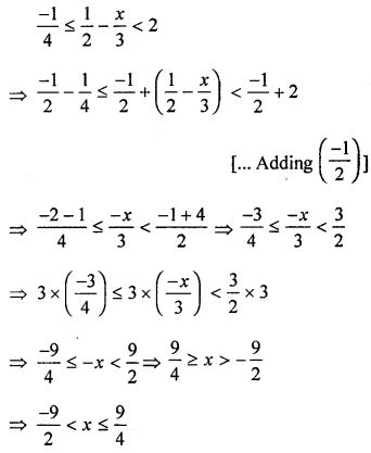 ML Aggarwal Class 8 Solutions for ICSE Maths Chapter 12 Linear Equations and Inequalities in one Variable Check Your Progress Q13.2