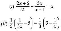 ML Aggarwal Class 8 Solutions for ICSE Maths Chapter 12 Linear Equations and Inequalities in one Variable Ex 12.1 Q10.1