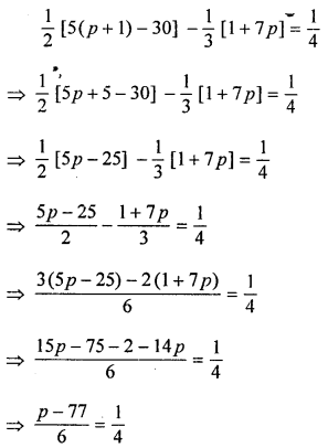ML Aggarwal Class 8 Solutions for ICSE Maths Chapter 12 Linear Equations and Inequalities in one Variable Ex 12.1 Q12.1