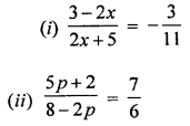 ML Aggarwal Class 8 Solutions for ICSE Maths Chapter 12 Linear Equations and Inequalities in one Variable Ex 12.1 Q8.1