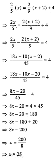 ML Aggarwal Class 8 Solutions for ICSE Maths Chapter 12 Linear Equations and Inequalities in one Variable Ex 12.2 Q6.1
