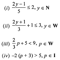 ML Aggarwal Class 8 Solutions for ICSE Maths Chapter 12 Linear Equations and Inequalities in one Variable Ex 12.3 Q7.1