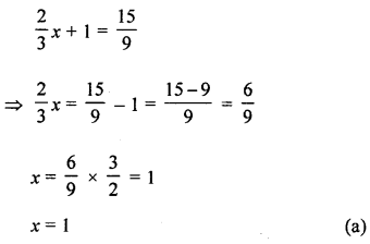 ML Aggarwal Class 8 Solutions for ICSE Maths Chapter 12 Linear Equations and Inequalities in one Variable Objective Type Questions Q4.1