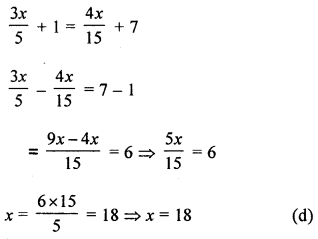 ML Aggarwal Class 8 Solutions for ICSE Maths Chapter 12 Linear Equations and Inequalities in one Variable Objective Type Questions Q6.1