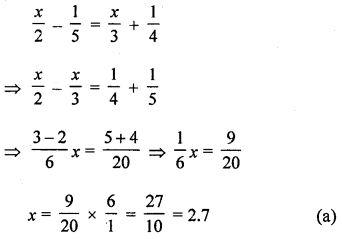 ML Aggarwal Class 8 Solutions for ICSE Maths Chapter 12 Linear Equations and Inequalities in one Variable Objective Type Questions Q7.1